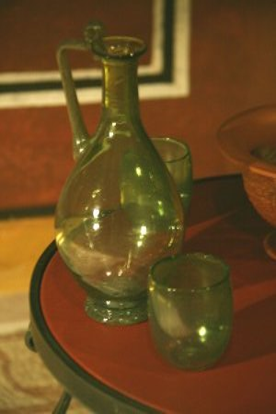 ancient roman glass pitcher