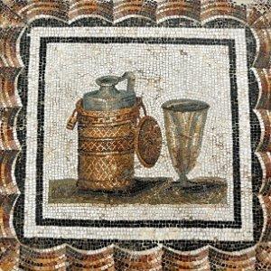 roman bottle mosaic