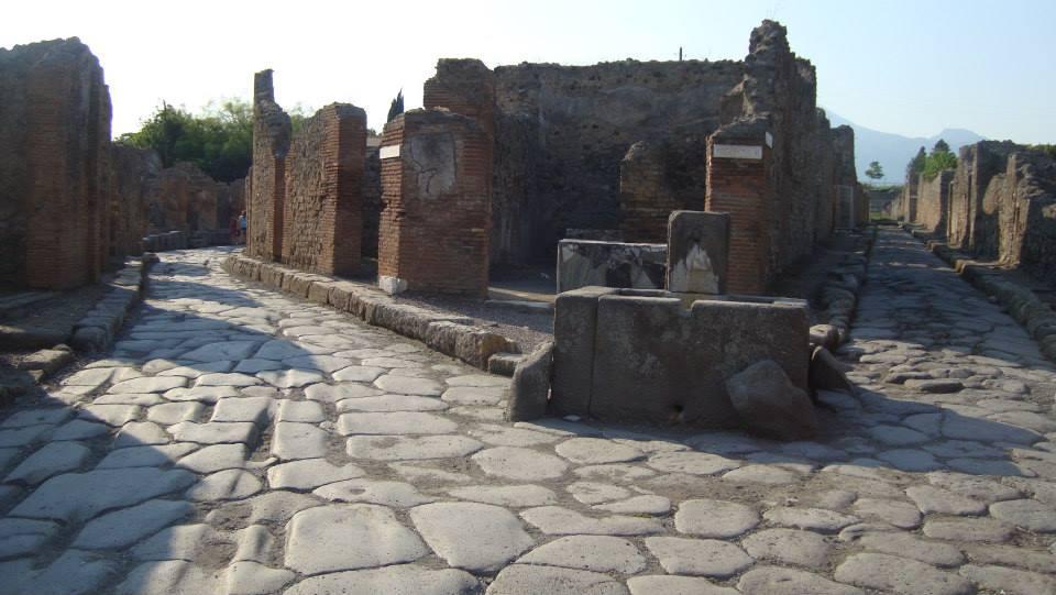 roman road pompei