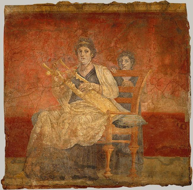 cithara woman fresco