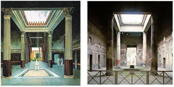 roman atrium pompei