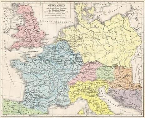 roman empire map germania