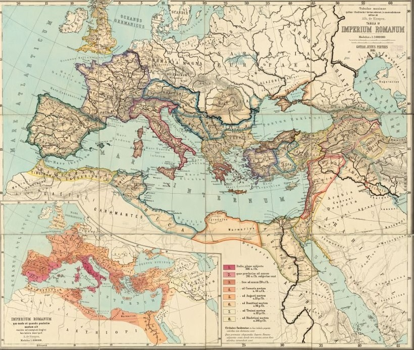roman empire map north africa