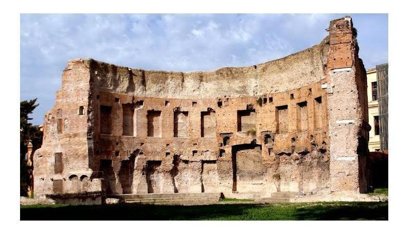trajan baths ruins