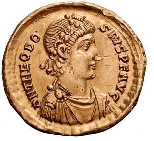 emperor theodosius coin